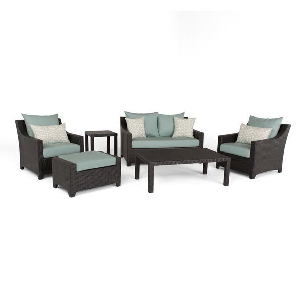 Fine Shop Deco Spa Blue 6 Piece Outdoor Patio Loveseat And Club Ocoug Best Dining Table And Chair Ideas Images Ocougorg