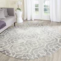 Safavieh Dip Dye Vintage Handmade Grey/ Ivory Wool Rug - 5' Round