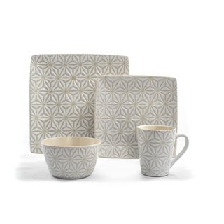 Tablescapes by Gaia Group USA Calla Ceramic 16pc Dinnerware Set