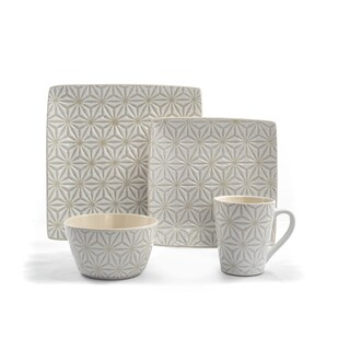 Tablescapes by Gaia Group USA Calla Ceramic 16-piece Dinnerware Set