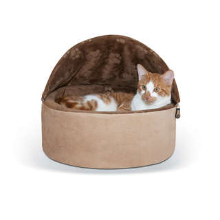 K&H Self-Warming Kitty Cat Hooded Bed