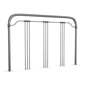 Wellesly Metal Headboard with Straight Top Rail and Rounded Corners