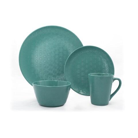 Gaia Group USA Lola Green Ceramic 16-piece Dinnerware Set