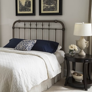 Vienna Headboard with Metal Spindle Panel and Carved Finials