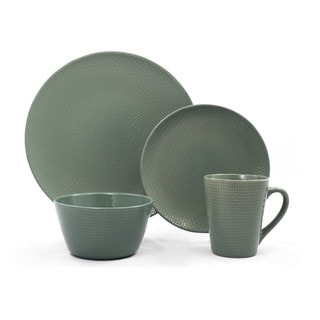 Veneto Green Ceramic 16-piece Dinnerware Set