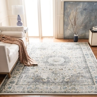 Safavieh Evoke Vintage Oriental Grey / Gold Distressed Rug (6' 7 Square)