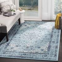 Safavieh Evoke Vintage Oriental Light and Dark Blue Distressed Rug (9' Square)