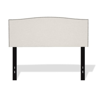 Princeton Adjustable Headboard with Upholstered Panel and Nail Head Trim Design