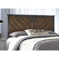 Braden Metal Headboard Panel with Reclaimed Wood Design Printed on Metal Panels