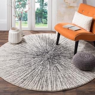 Safavieh Evoke Vintage Abstract Burst Black/ Ivory Distressed Rug (6' 7 Round)