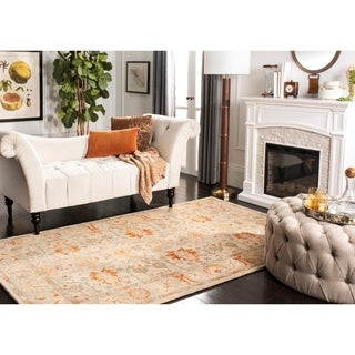 Safavieh Antiquity Traditional Handmade Beige/ Multi Wool Rug (4' x 6')