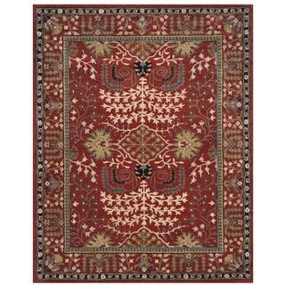 Safavieh Antiquity Traditional Handmade Red/ Multi Wool Rug (4' x 6')