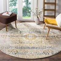 "Safavieh Evoke Vintage Distressed Ivory / Blue Distressed Rug - 6'7"" x 6'7"" round"