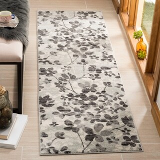 Safavieh Evoke Vintage Floral Grey / Gold Distressed Rug (6' 7 Round)