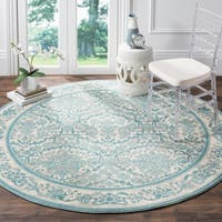 Safavieh Evoke Vintage Oriental Ivory / Light Blue Distressed Rug (6' 7 Round)
