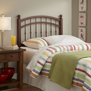 Bailey Wooden Headboard Panel with Intricate Spindles and Round Post Finials
