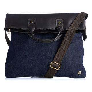 Handmade Urban Denim Foldover Bag (Colombia)