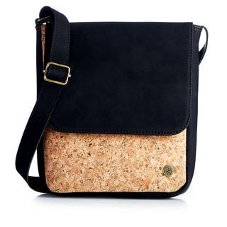 Handmade Cork and Vegan Flap Mini Bag (Colombia)