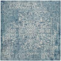 Safavieh Evoke Vintage Oriental Blue/ Ivory Distressed Rug - 5' 1 Square
