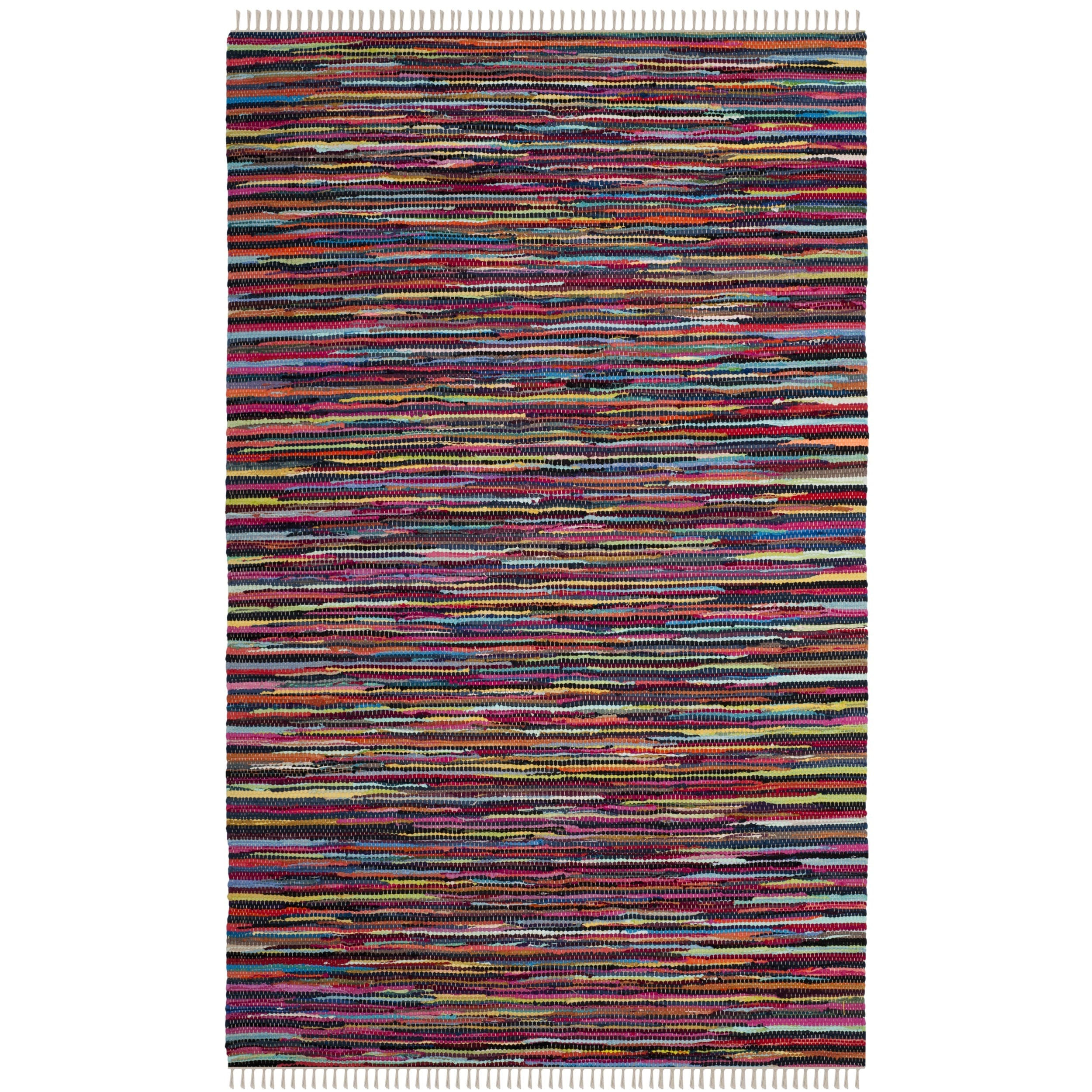 Safavieh Hand-Woven Rag Cotton Rug Multicolored Cotton Ru...