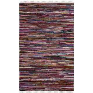 Safavieh Hand-Woven Rag Cotton Rug Multicolored Cotton Rug (3' x 5')