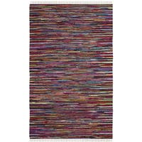 Safavieh Hand-Woven Rag Cotton Rug Multicolored Cotton Rug - 3' x 5'