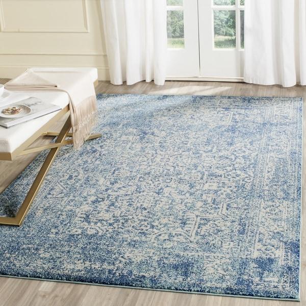 Safavieh Evoke Vintage Oriental Blue/ Ivory Distressed Rug - 9' Square