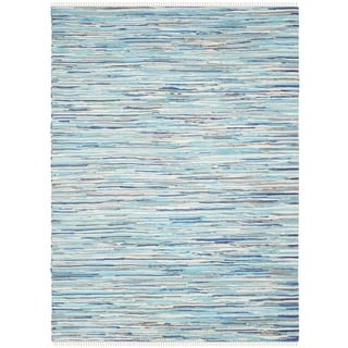 Safavieh Hand-Woven Rag Cotton Rug Turquoise/ Multicolored Cotton Rug (3' x 5')