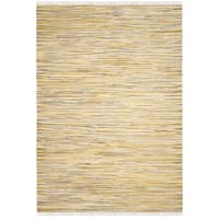 Safavieh Hand-Woven Rag Cotton Rug Gold/ Multicolored Cotton Rug - 3' x 5'