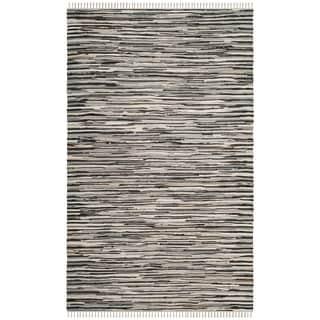 Safavieh Hand-Woven Rag Cotton Rug Black/ Multicolored Cotton Rug (3' x 5')