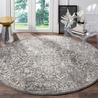Safavieh Evoke Vintage Oriental Grey / Ivory Distressed Rug (5' 1 Round)|https://ak1.ostkcdn.com/images/products/13311244/P20018123.jpg?_ostk_perf_=percv&impolicy=medium