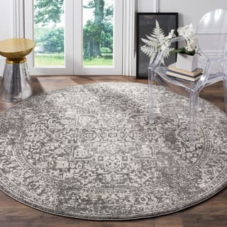 Safavieh Evoke Vintage Oriental Grey / Ivory Distressed Rug (5' 1 Round)|https://ak1.ostkcdn.com/images/products/13311244/P20018123.jpg?impolicy=medium