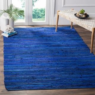 Safavieh Handmade Rag Rug Sevim Casual Stripe Cotton Rug