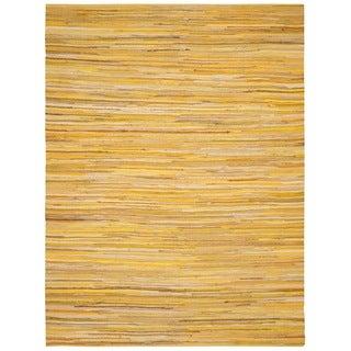 Safavieh Hand-Woven Rag Cotton Rug Yellow/ Multicolored Cotton Rug (3' x 5')