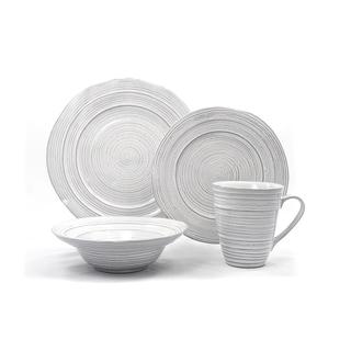 Barolo White Ceramic 16-piece Dinnerware Set