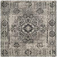 Safavieh Evoke Vintage Ivory / Black Center Medallion Distressed Rug - 6' 7 Square
