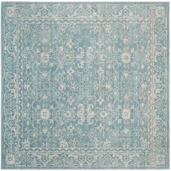 Safavieh Evoke Vintage Oriental Light Blue/ Ivory Distressed Rug (5' 1 Square) - 5' 1 Square