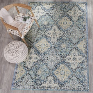 Safavieh Evoke Vintage Light Blue/ Ivory Distressed Rug (5' 1 Square)