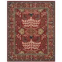 Safavieh Antiquity Traditional Handmade Red/ Multi Wool Rug - 5' x 8'