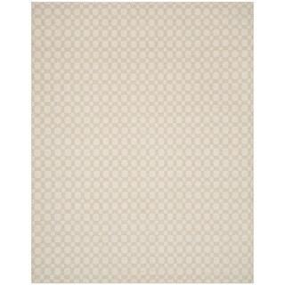 Safavieh Hand-Woven Kilim Flatweave Beige/ Ivory Cotton Rug (5' x 8')
