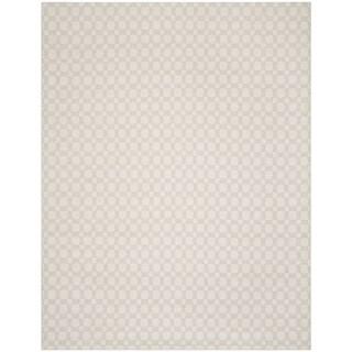 Safavieh Hand-Woven Kilim Flatweave Silver/ Ivory Cotton Rug (5' x 8')