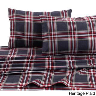 Cotton Flannel Extra Deep Pocket Sheet Set with Oversize Flat Sheet