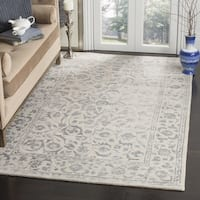 Safavieh Handmade Glamour Floral Silver/ Ivory Viscose Rug - 6' Square