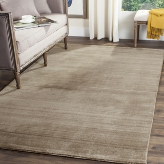 Safavieh Handmade Himalaya Taupe Wool Area Rug (6' Square)
