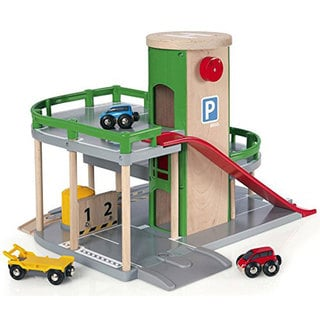 Brio Parking Garage Multicolor Wood Play Set