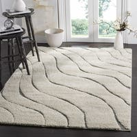 Safavieh Florida Ultimate Shag Contemporary Cream/ Grey Area Rug - 5' 3 x 7' 6