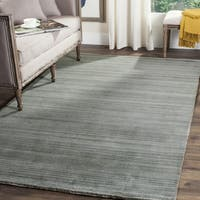 Safavieh Handmade Himalaya Slate/ Blue Wool Rug - 6' Square