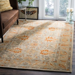 Safavieh Antiquity Traditional Handmade Beige/ Multi Wool Rug (9' x 12')