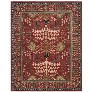 Safavieh Antiquity Traditional Handmade Red/ Multi Wool Rug (8' x 10')