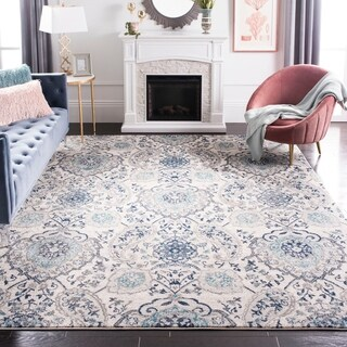 Safavieh Madison Paisley Boho Glam Cream/ Light Grey Rug - 6' 7 Square